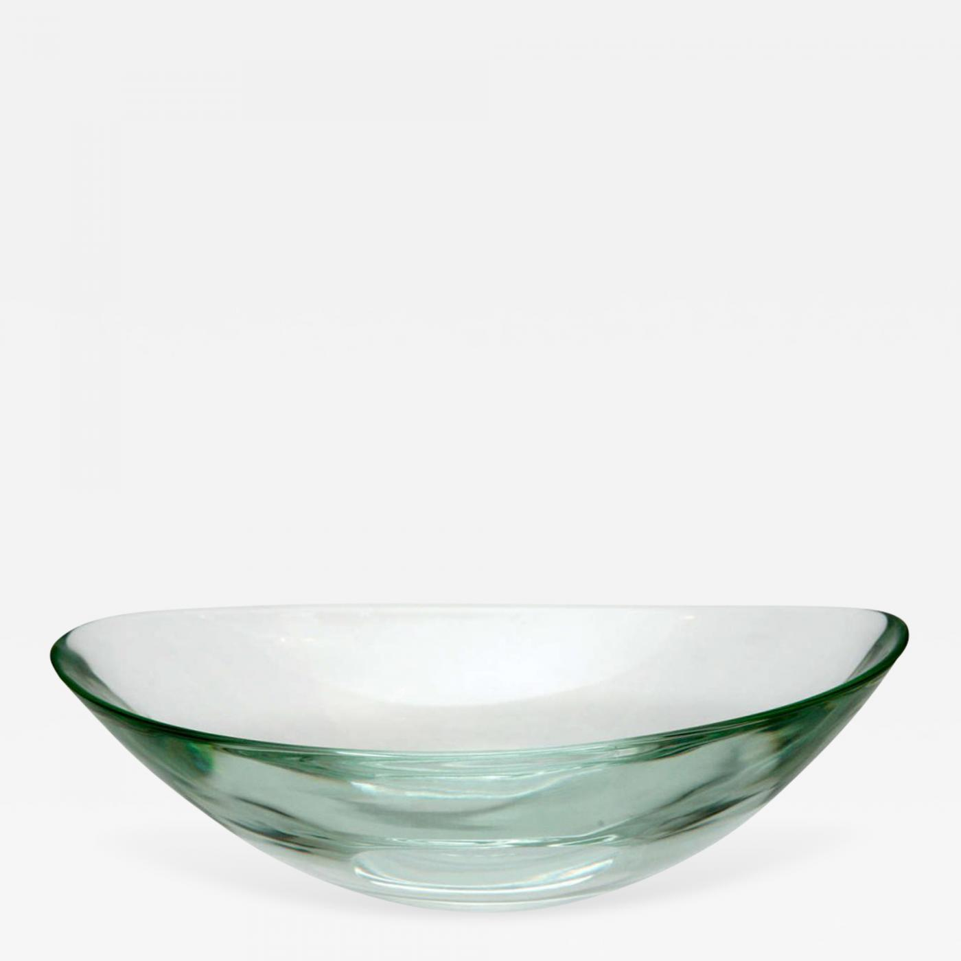 Decorative Glass Bowls Fontana Arte Oval Glass Bowl By Fontana Arte