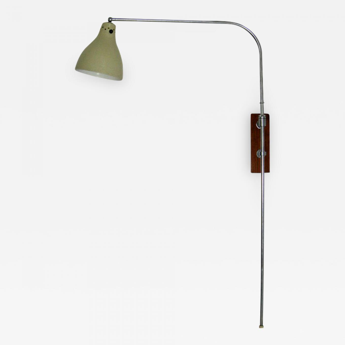 Swing Wall Lamp Greta Von Nessen Greta Von Nessen Adjustable Swing Arm Wall Lamp