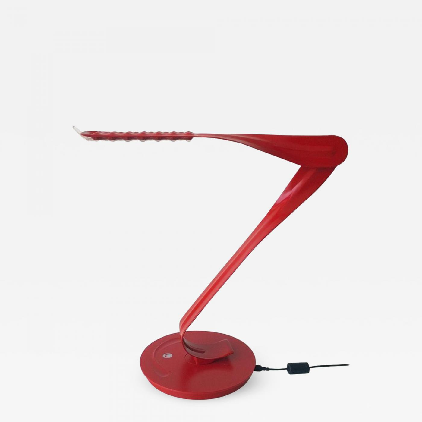 Desk Lamp Herman Miller 20th 21st Century Modern Red Enameled Signed Leaf Led Desk Lamp By Yves Behar