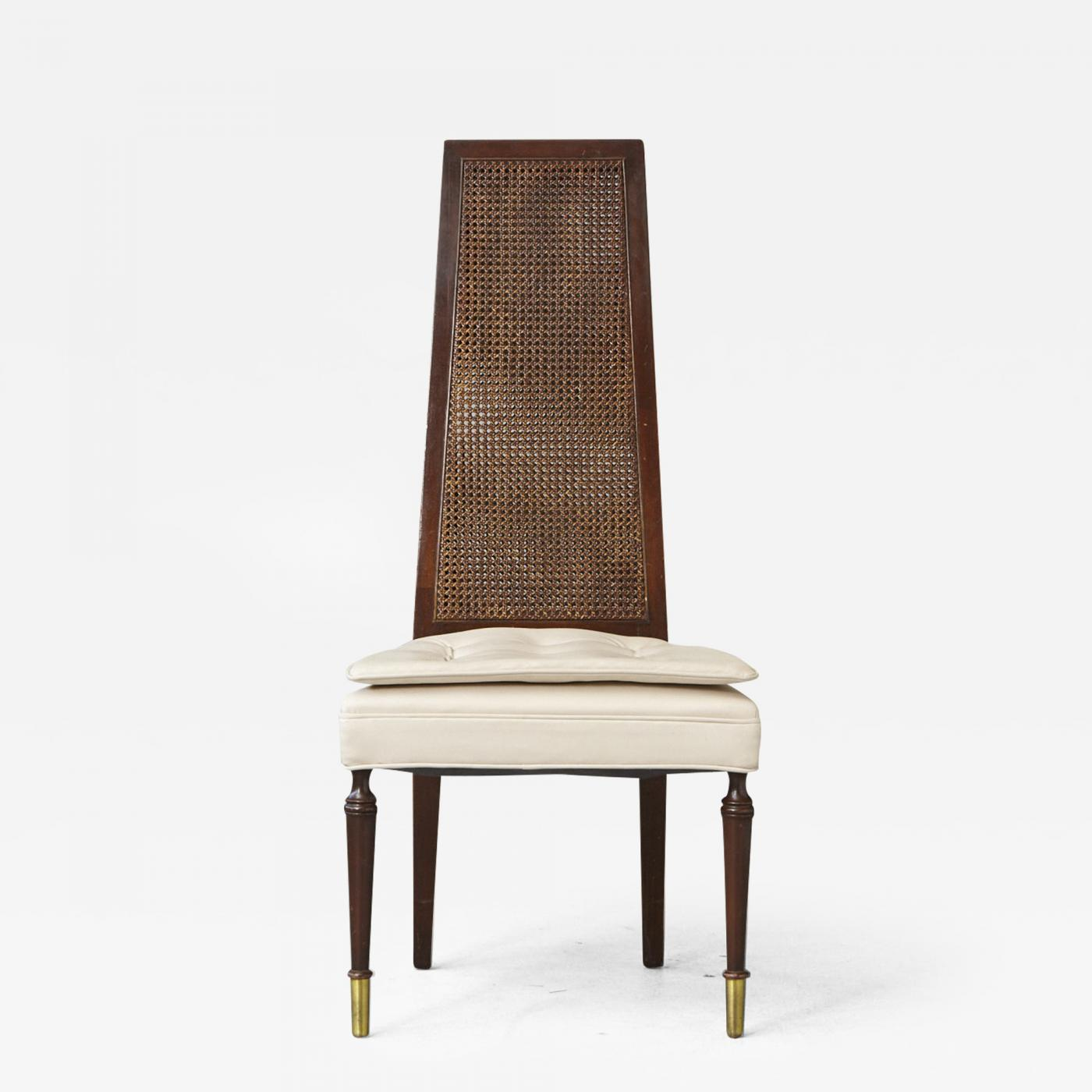 Desk Seat High Back Desk Chair With Double Sided Rattan Back And Ivory Faux Leather Seat