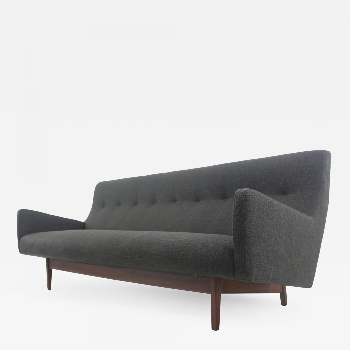Modern Couch Jens Risom Sleek High Back Scandinavian Modern Sofa Designed By Jens Risom