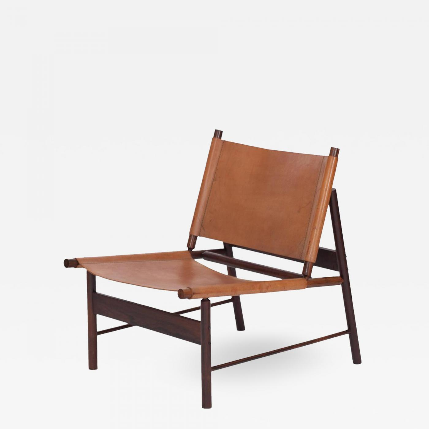Leather Lounge Jorge Zalszupin Rosewood And Cognac Leather Lounge Chair By Jorge Zalszupin Brazil 1955