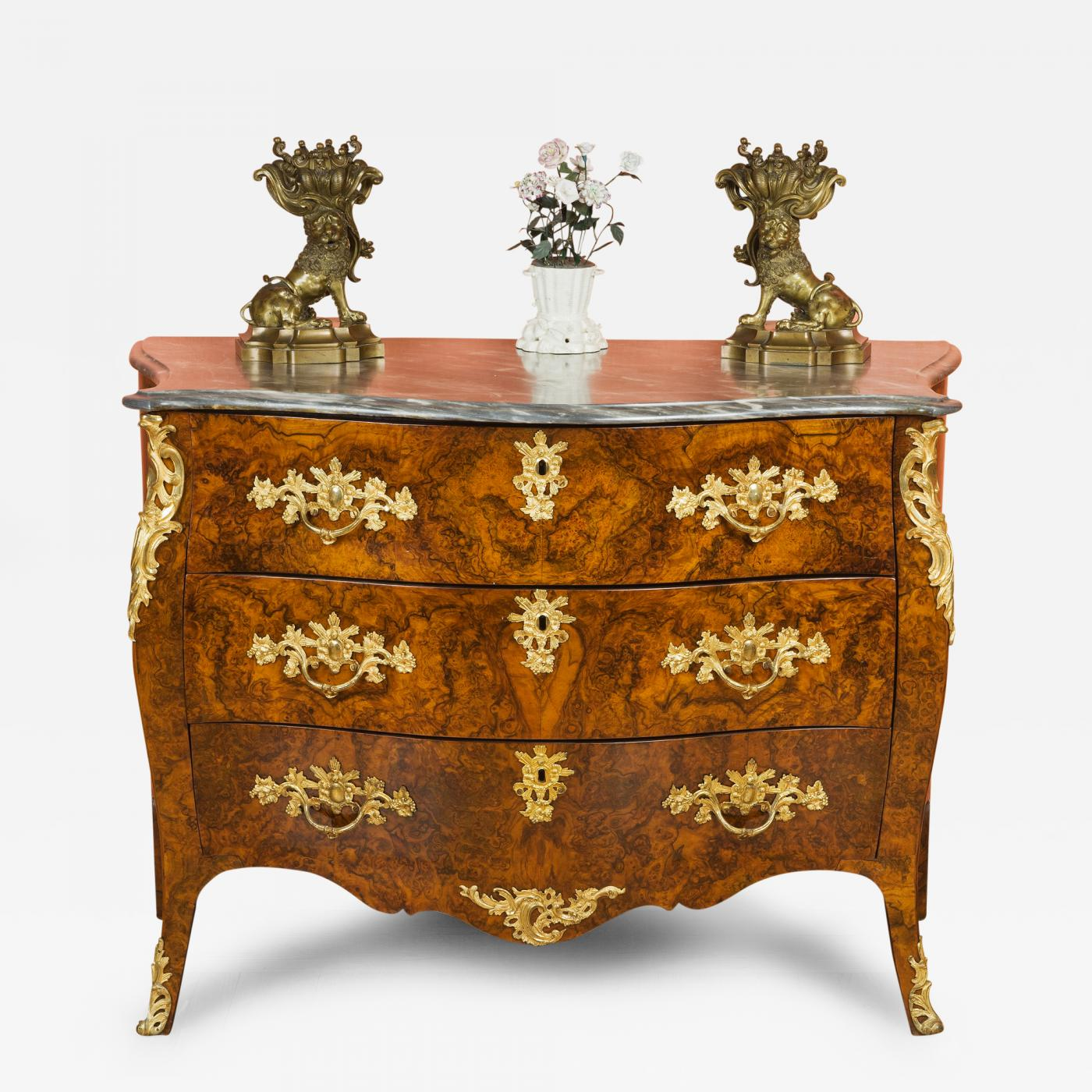 Commodes Louis 15 Louis Xv Dutch Gilt Bronze Mounted Burl Wood Commode