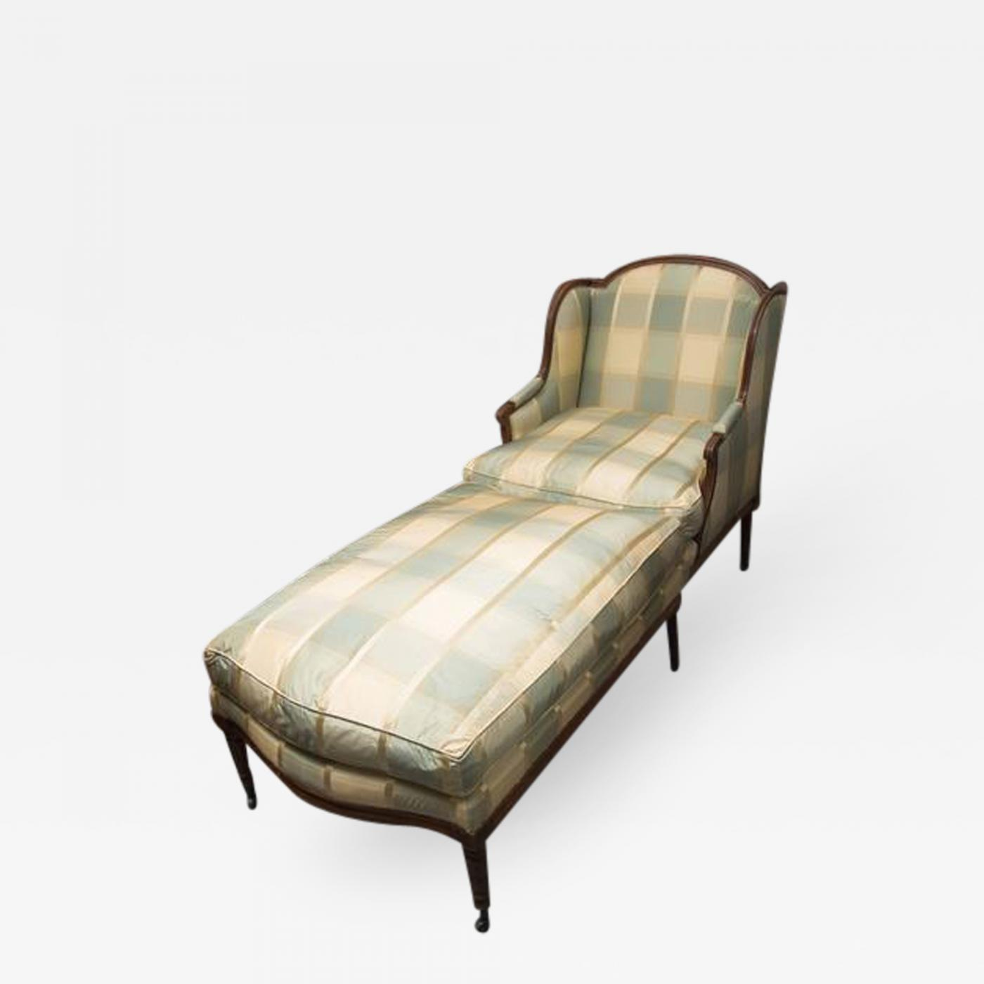 Chaise Style Louis 16 Louis Xvi Style Upholstered Chaise
