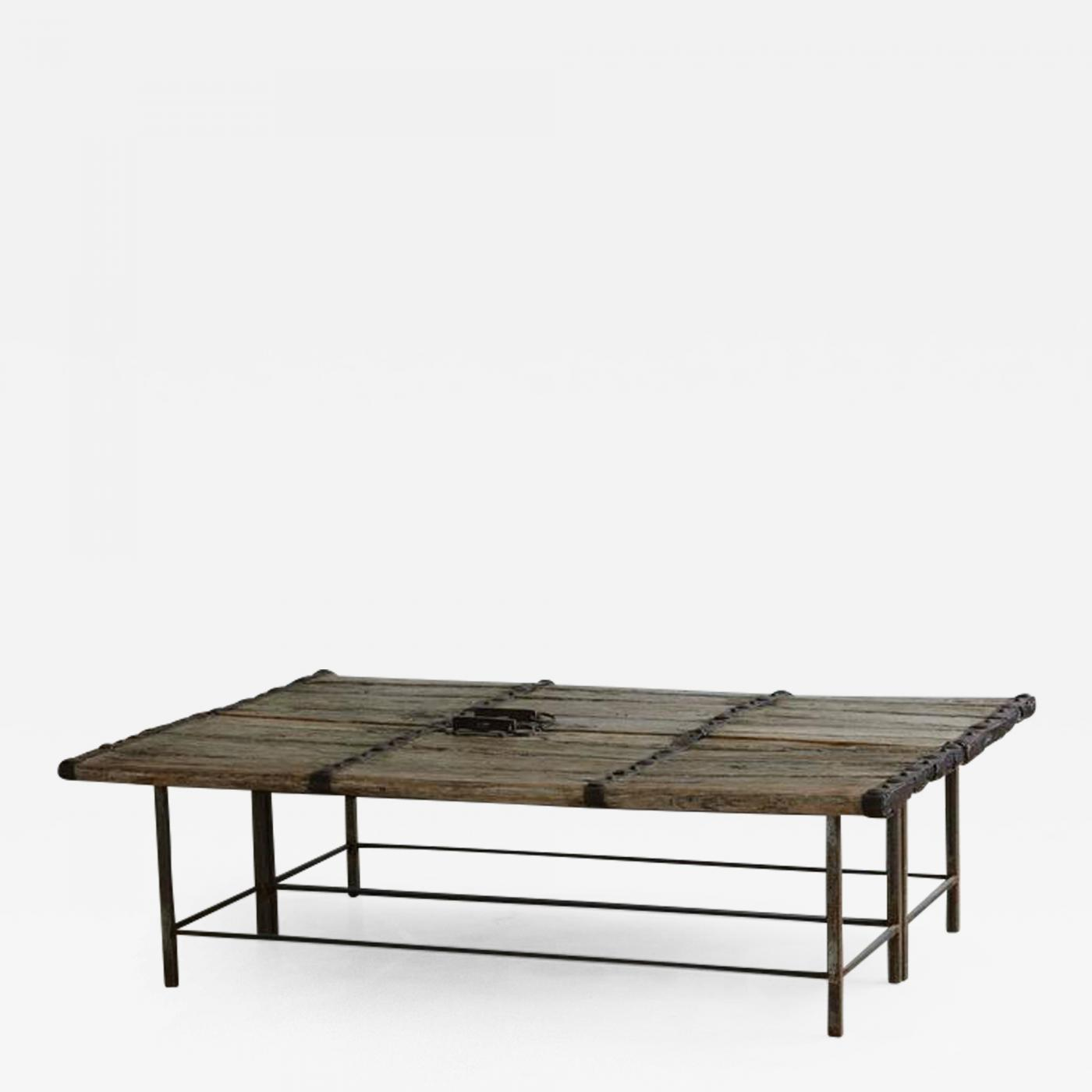 low antique chinese gate doors coffee table on custom