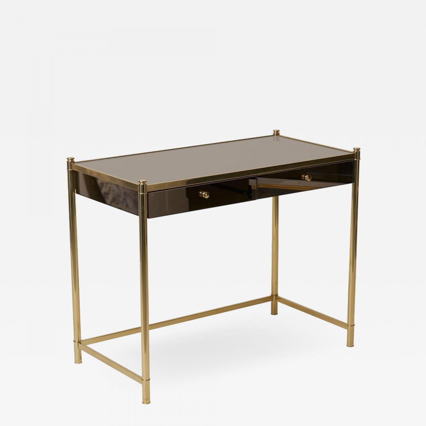 Dressing Maison Maison Jansen Beautiful Brass And Mirror Dressing Or Vanity Table In The Maison Jansen Manner