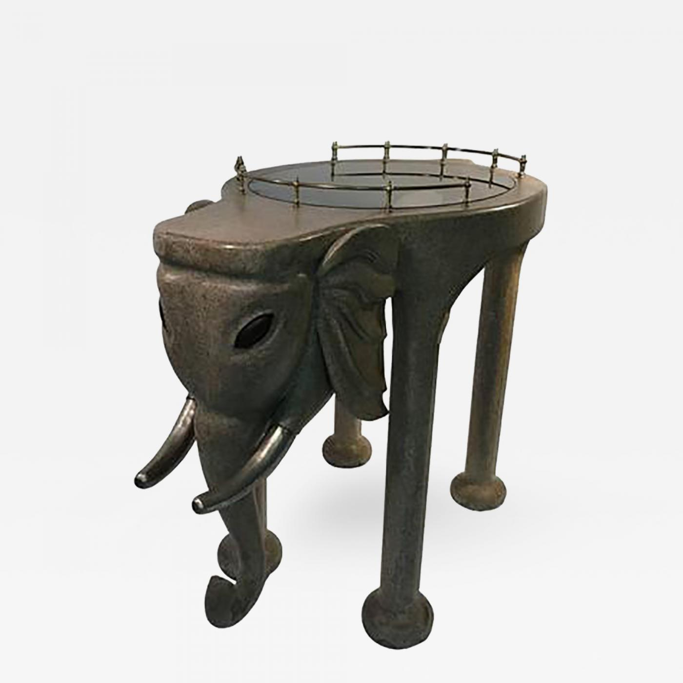 Marge Architecten Marge Carson Exquisite And Rare Elephant Bar Cart By Marge Carson