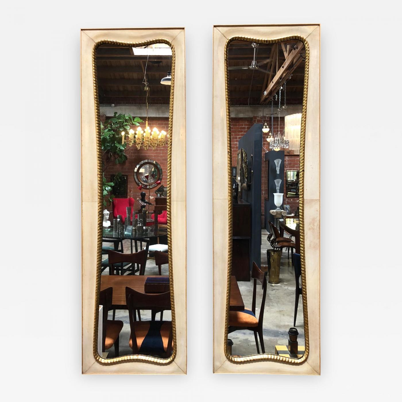 Large Wall Mirrors Pair Of Large Italian Wall Mirrors 1950s