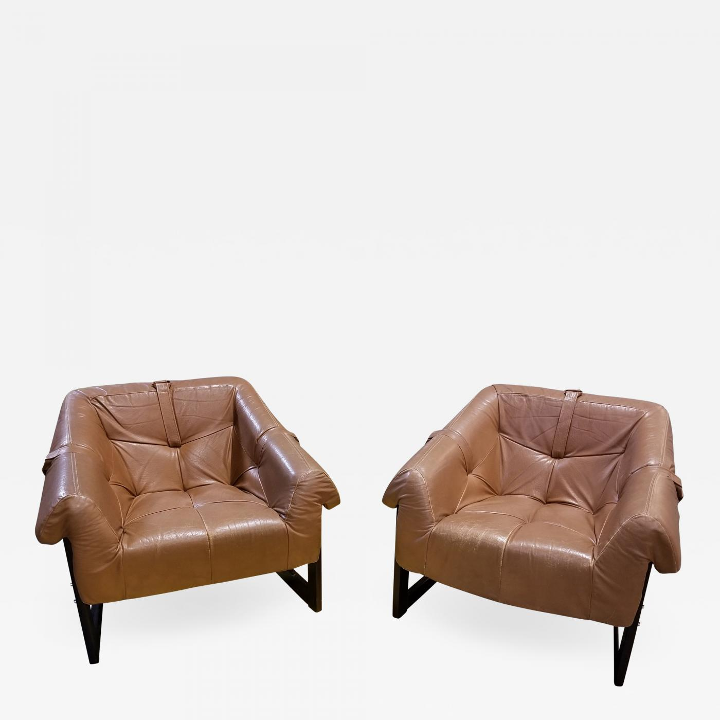 Leather Lounge Percival Lafer Pair Of Percival Lafer Rosewood And Leather Lounge Chairs