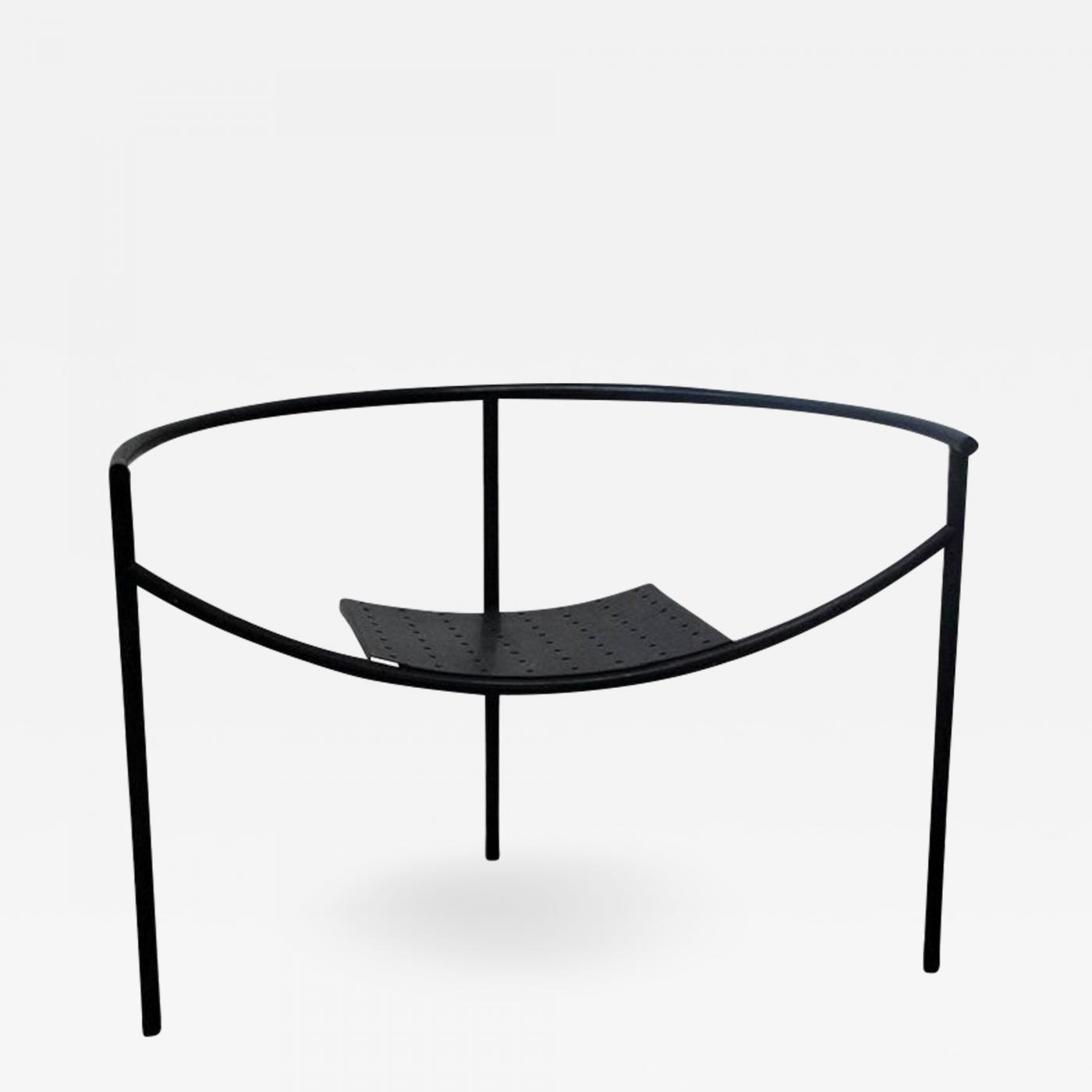 Philip Starck Philippe Starck Early Matte Black Doctor Sonderbar Armchair By Philippe Starck