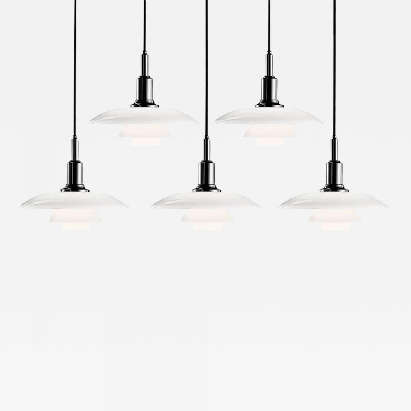 Louis Poulsen Ph 3 2 Poul Henningsen Poul Henningsen Ph 3 2 Glass Pendants For Louis Poulsen