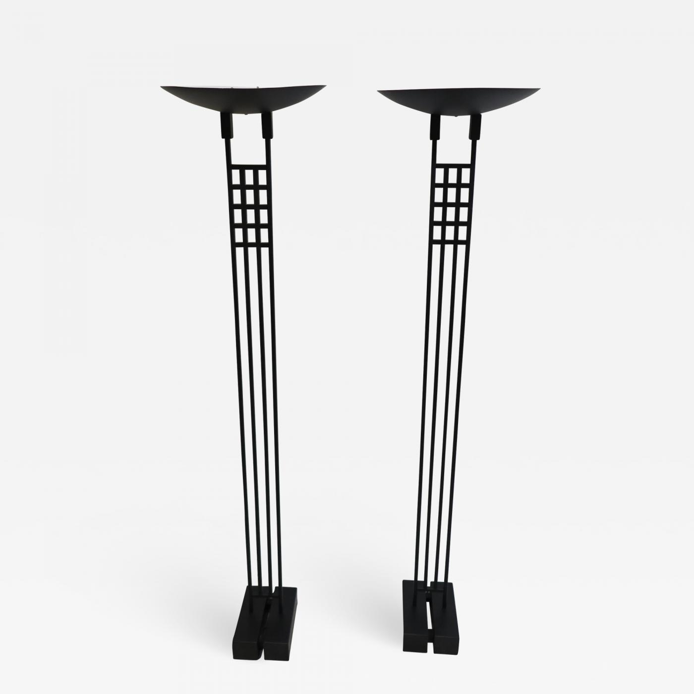 Pedestal Floor Lamps Robert Sonneman Pair Of Sonneman Torchiere Floor Lamps