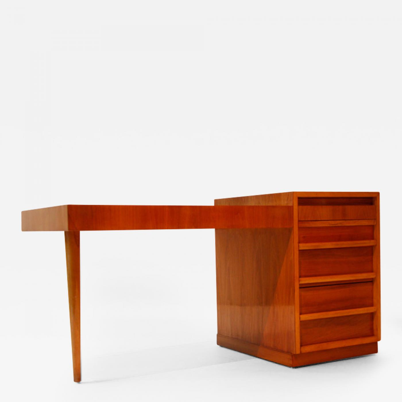 Desks With Drawers Th Robsjohn Gibbings Cherry Wood Desk With Drawers