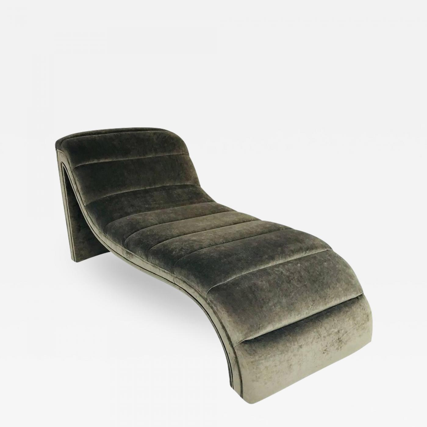 Chaise Style Vladimir Kagan Chaise Lounge In The Style Of Vladimir Kagan Custom