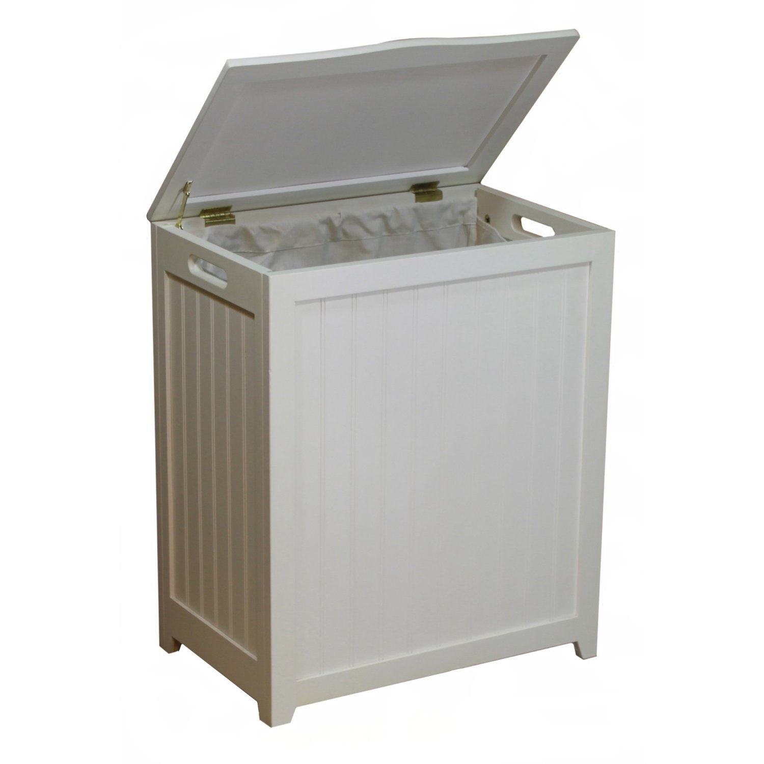 White Laundry Hamper With Lid Creativeworks Home Decor Laundry Hampers