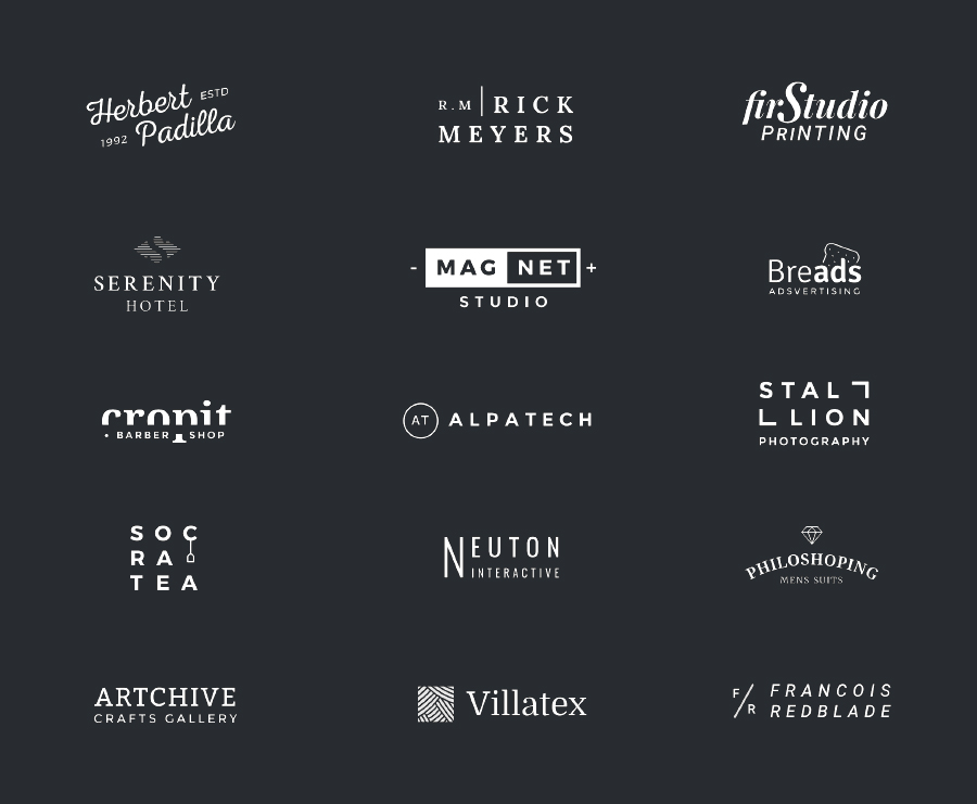 100+ Free Logo Templates to Speed up your Logo Design Process - text logo template