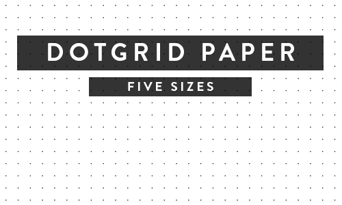 Printable Paper - Isometric, Notebook, Ruled, Dotgrid and More! - printable dot grid paper