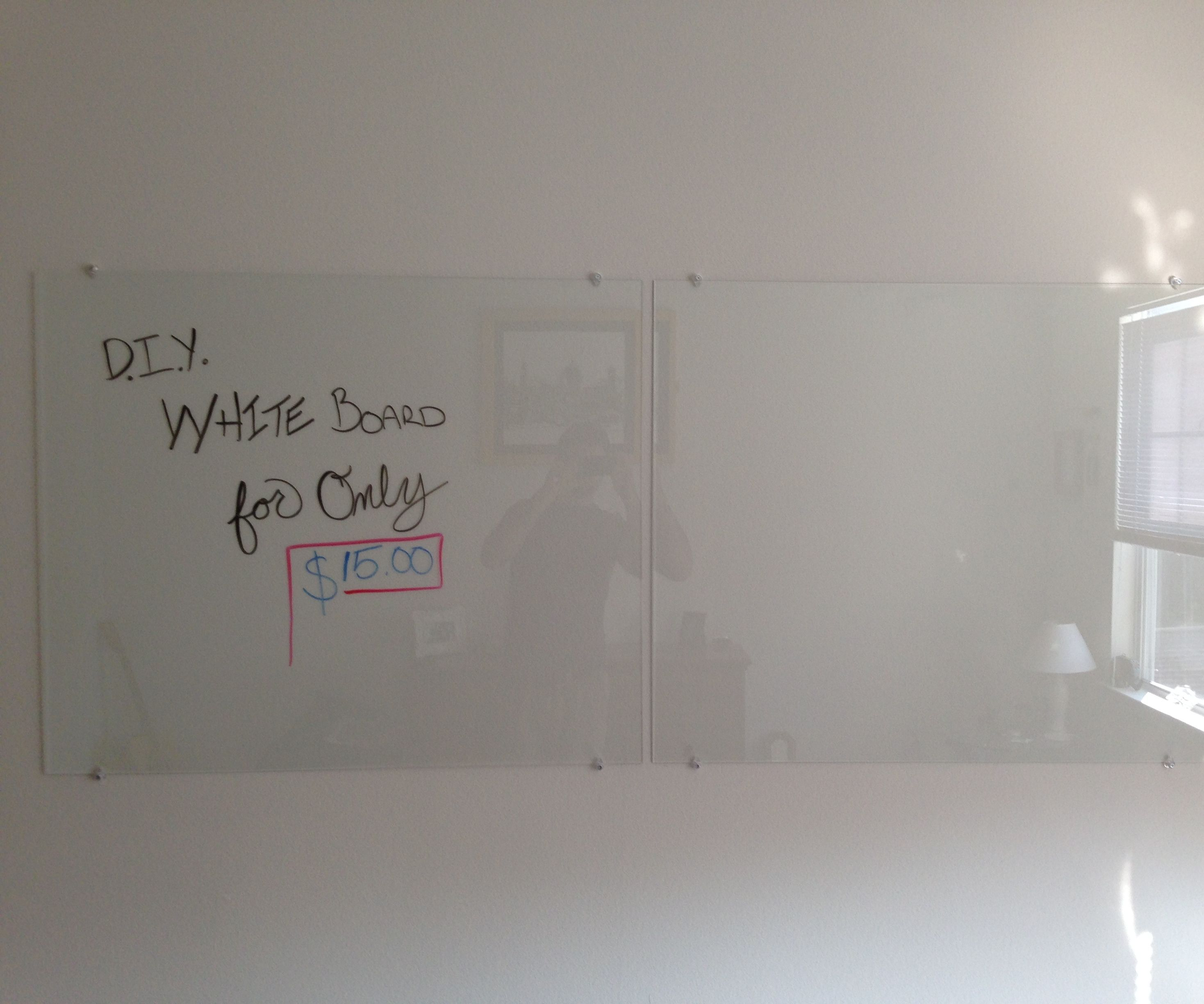 Turn A Wall Into A Whiteboard Diy Glass Dry Erase Board 4 Steps