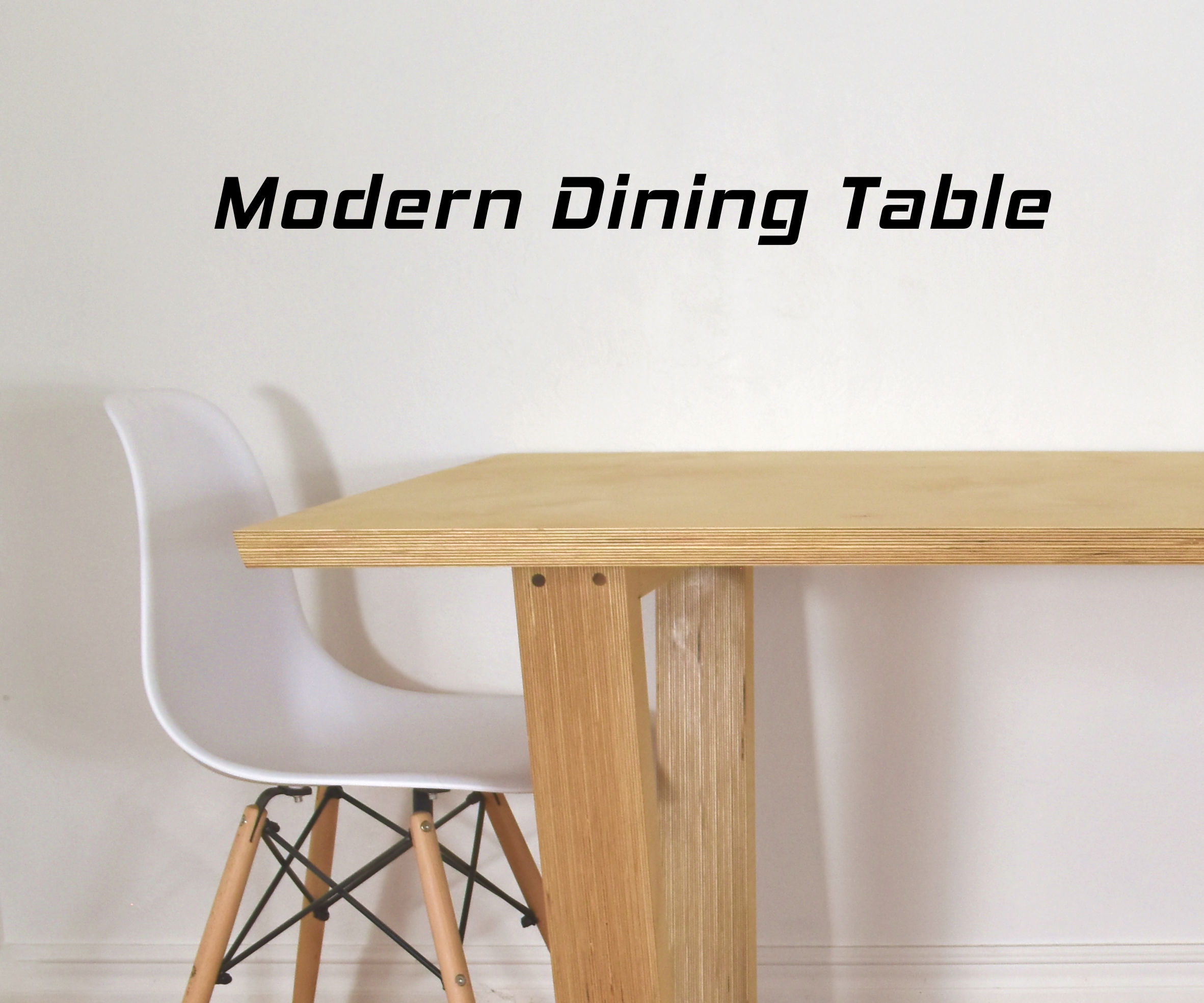 Half Inch Plywood Making High End Furniture From Plywood Diy Modern Dining Table