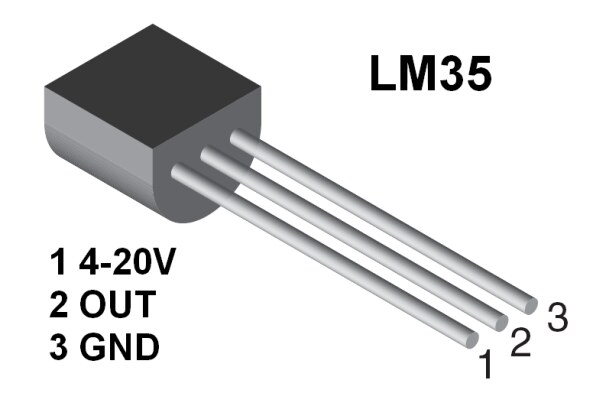 LM35 Temperature Sensor 3 Steps