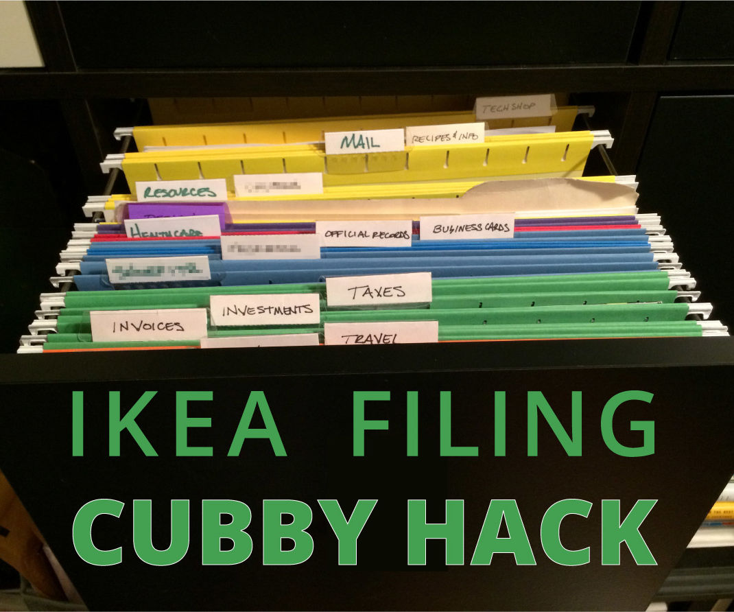 Ikea Home Filing System Ikea Expedit Filing Cabinet Hack 6 Steps With Pictures