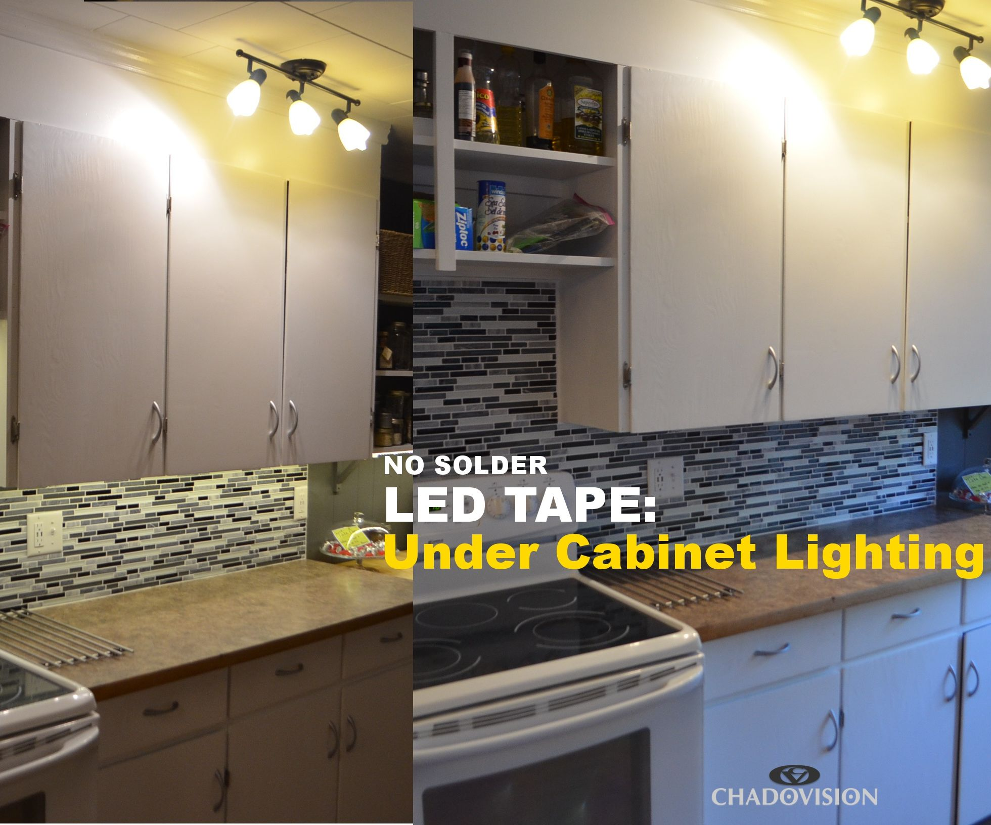 Led Light Strips Under Counter Led Tape Under Cabinet Lighting No Soldering 9 Steps