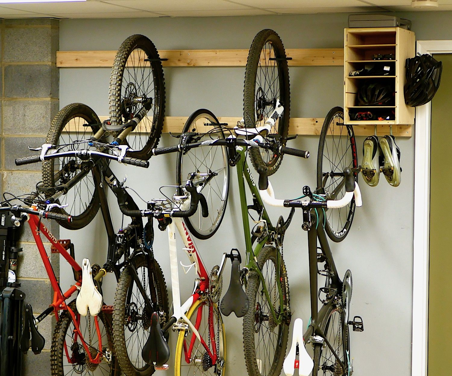 Garage Journal Bike Storage Diy Bike Rack For 20 Bike Storage Stand Cabinet For Garage
