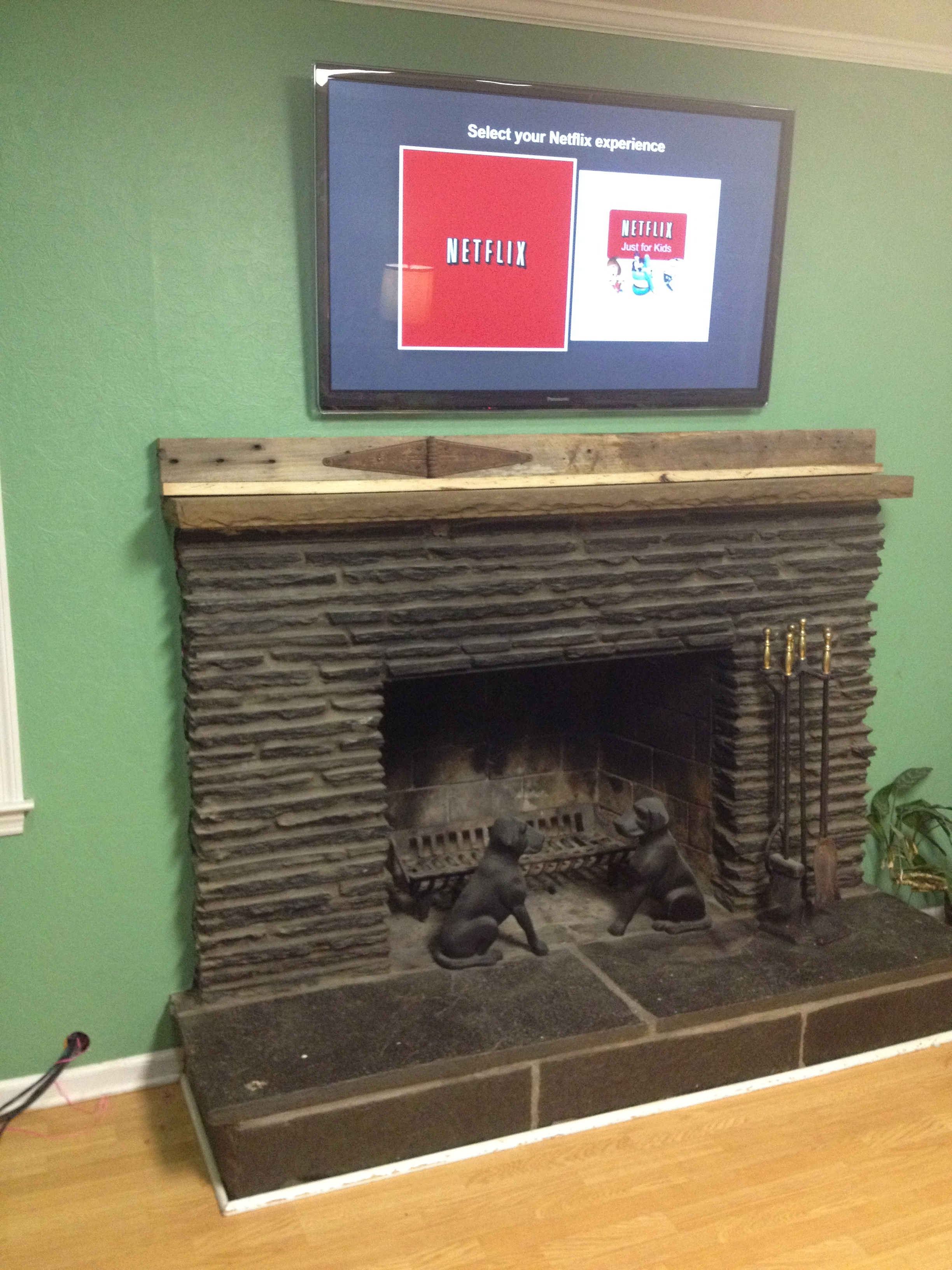 Faux Wood Beam Fireplace Mantels Uk Run Tv Cables Above A Fireplace 6 Steps With Pictures