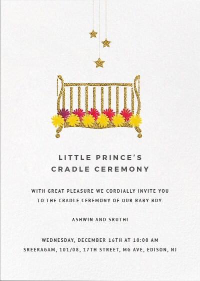 invitation of naming ceremony message