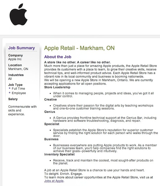 accepting job