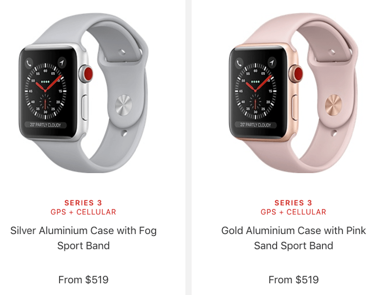 Apple Watch Series 3 Canadian Pricing Starts At 429 Cad