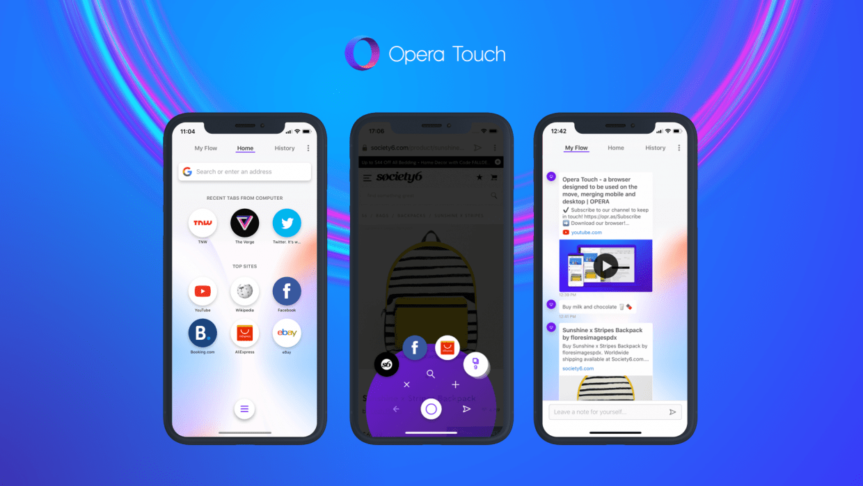 Browser Opera Opera Touch Web Browser Designed For Iphone Xs Xs Max Now