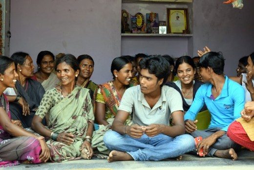 Dalit women and their children, including young boys, are working together to end the system of 'temple slavery' in the Southwest Indian state of Karnataka. Credit: Stella Paul/IPS