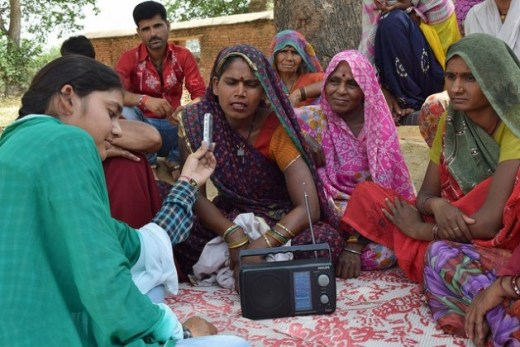 Radio Bundelkhand, based in central India, has about 250,000 listeners, of whom 99 percent are farmers. Credit: Stella Paul/IPS