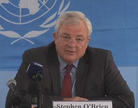 Stephen O'Brian, UN Under-Secretary-General for Humanitarian Affair. Credit: UN Multimedia