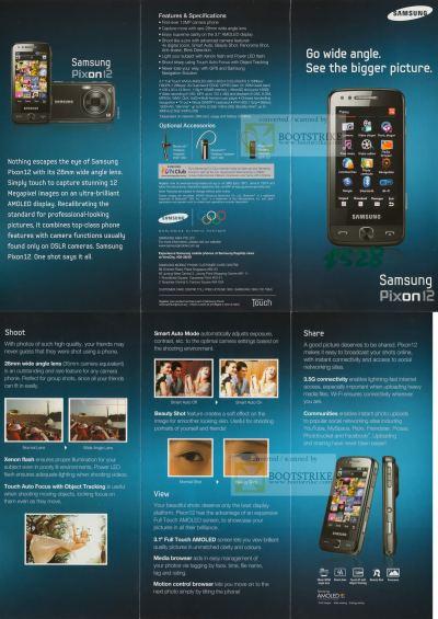 Samsung Pixon12 Mobile Phone OLED SITEX 2009 Price List ...