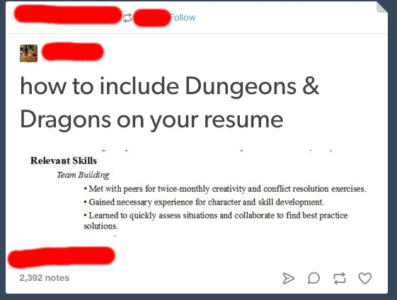How to add Dungeons  Dragons to your resume