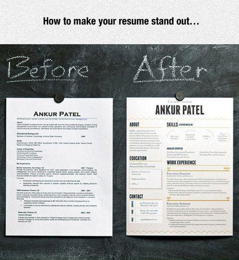 Make your resume stand out - make your resume