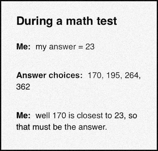 Multiple Choice Math Test?