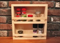Wooden Spice Racks | Small Spice Rack | Jamaica Cottage Shop