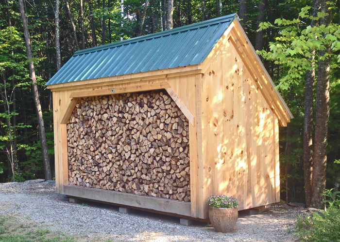 6x14 Woodbin Post Beam Firewood Storage Shed Kit Easy To