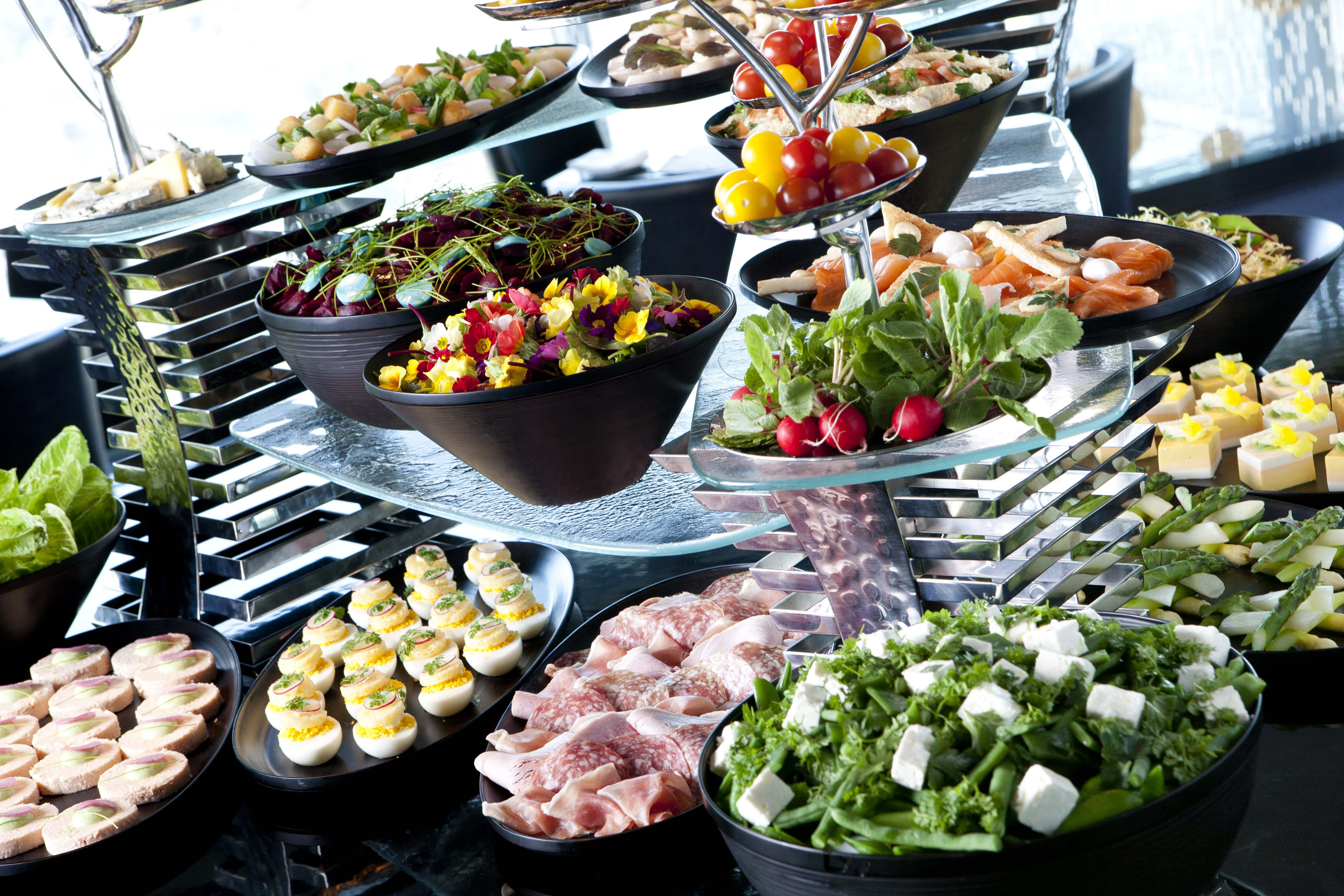 Brunch Buffet Sunday Brunch With Champagne Strawberry Sweets Afternoon Tea Eat