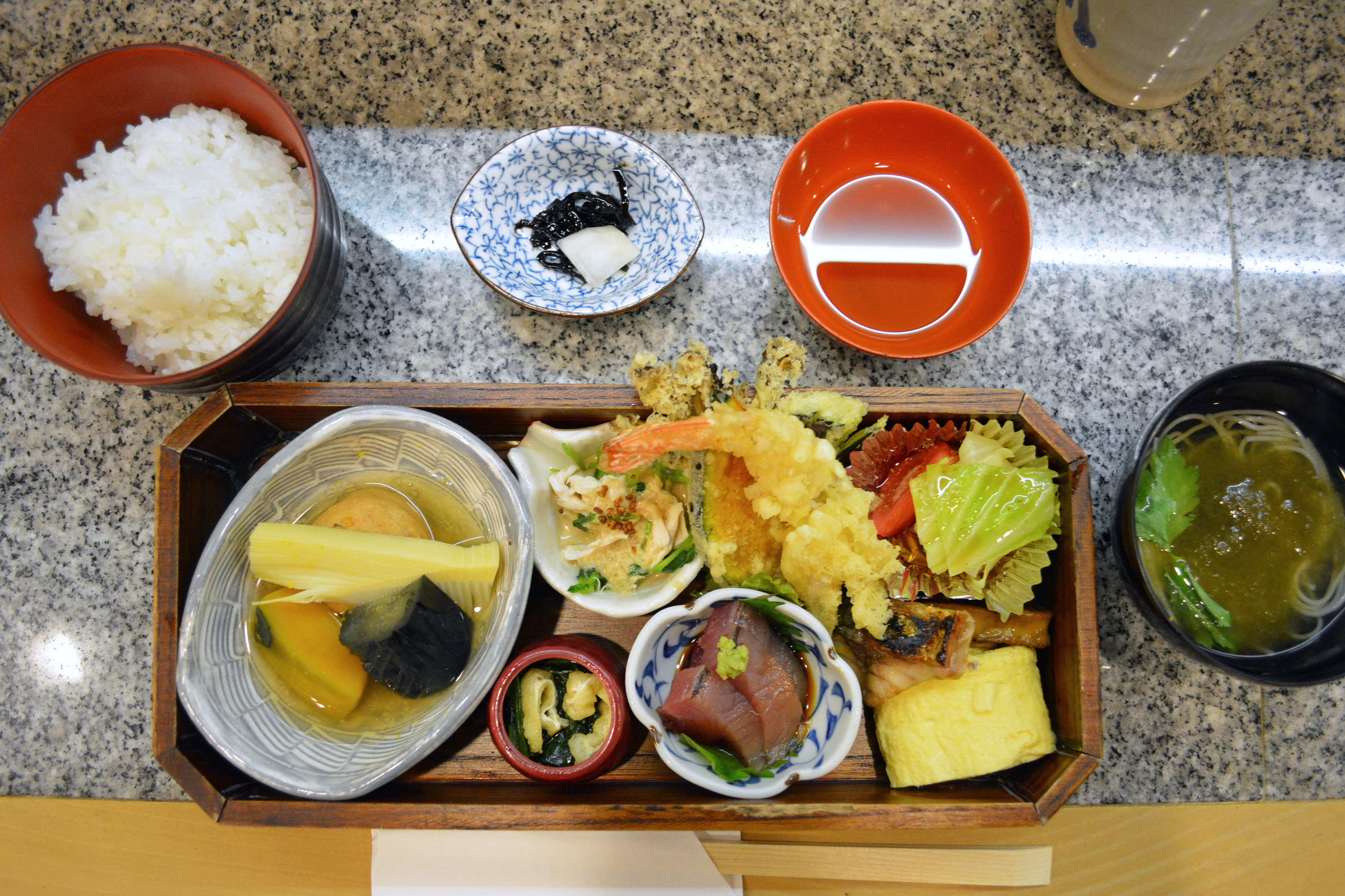Lunch In A Box Ukon Traditional Kaiseki Cuisine Served In A Bento Box The