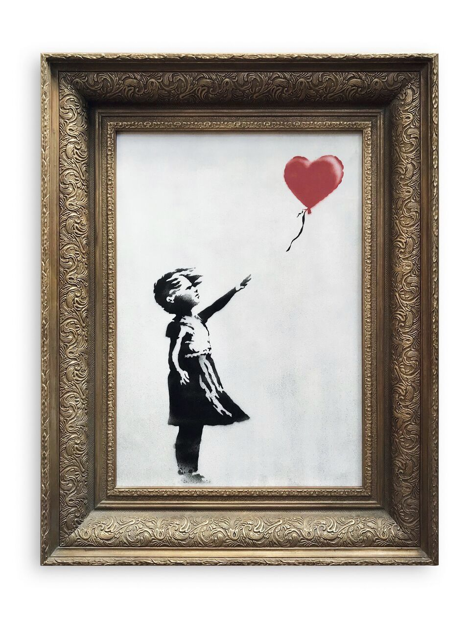 Banksy Canvas Art Banksy Canvas Sells For 1 4 Million Before Self Destructing