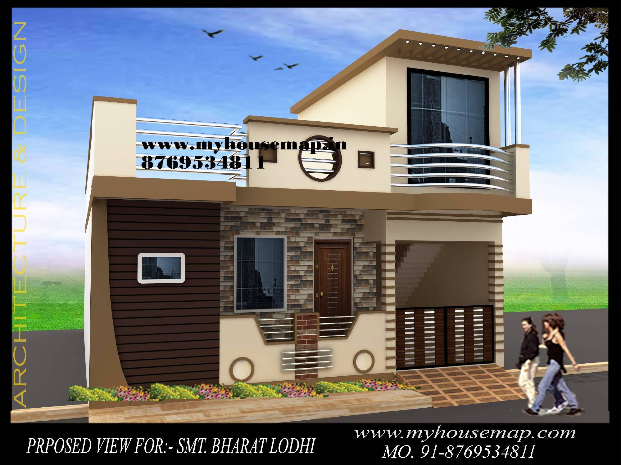 Elevation In India House Map Elevation Exterior House Design 3d