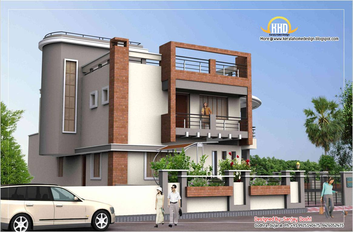 Home Designs In India latest3jpg Superb India House Front Wall Designs Indian House Boundary Wall Designs