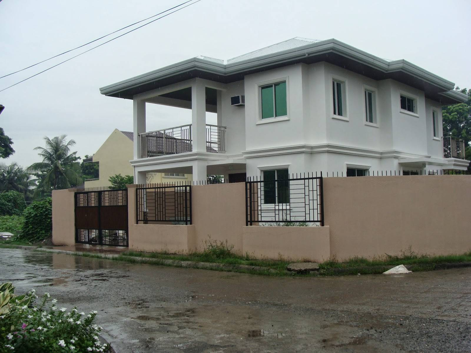 Modern contemporary house exterior design likewise house philippine wo storey house plans with balcony download
