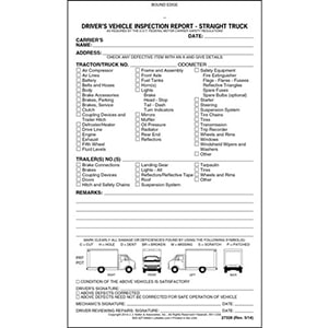 Vehicle Inspection Forms from J J Keller - vehicle inspection form