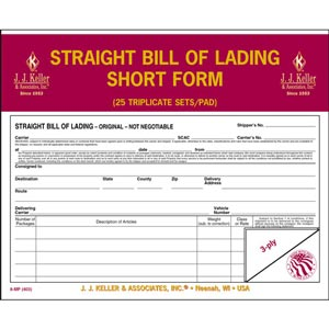 Bill of Lading Forms and Shipping Papers