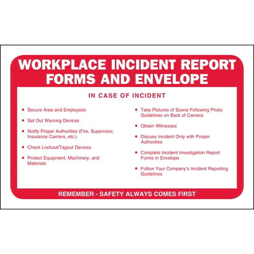 Workplace Incident Report Forms Packet - incident report forms
